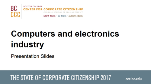 StateofCorporateCitizenship2017_Computersandelectronics_Members
